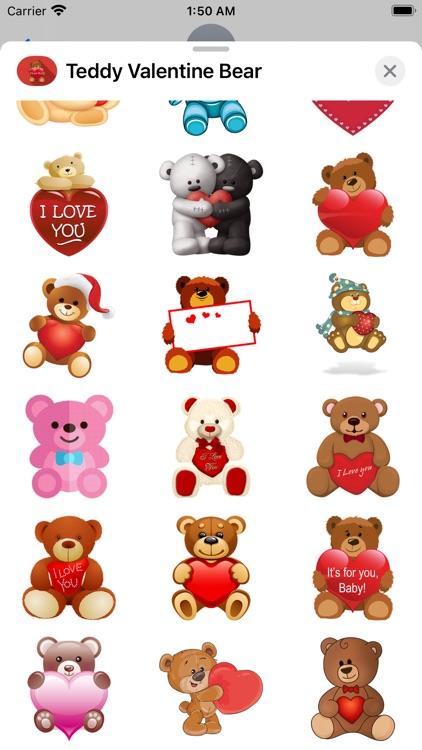 Teddy Valentine Bear Stickers screenshot-3