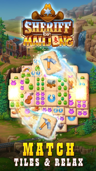 Sheriff of Mahjong: Tile Match screenshot 1
