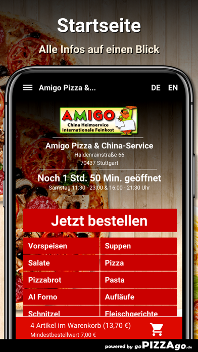 Amigo Pizza Stuttgart screenshot 2