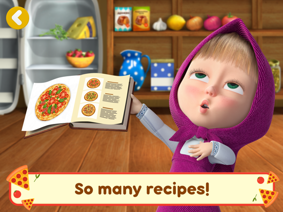 Ipad Screen Shot Masha and the Bear Pizzeria! 1
