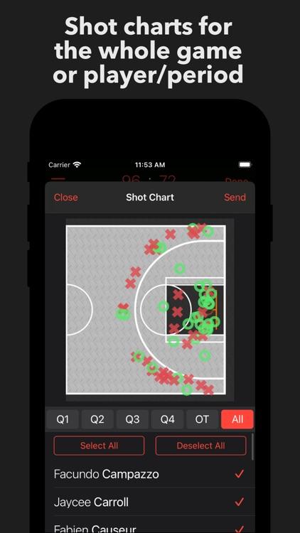 Basketball Stats PRO Phone screenshot-3