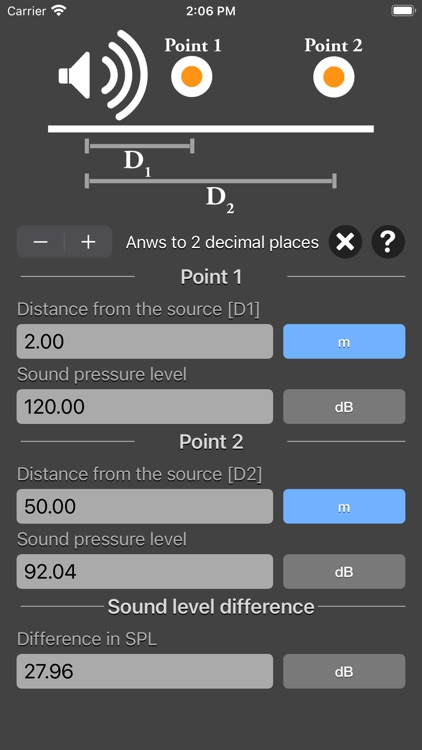 Distance Attenuation Calc screenshot-4
