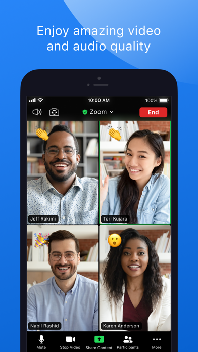 Screenshot of ZOOM Cloud Meetings App