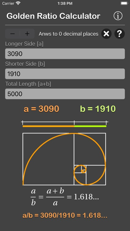 Golden Ratio Calculator Plus screenshot-8