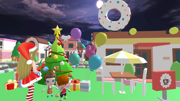 Christmas Santa Girl Car Drive screenshot-3