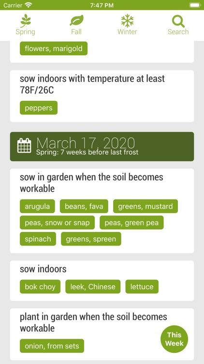 Skippys Vegetable Calendar App screenshot-4