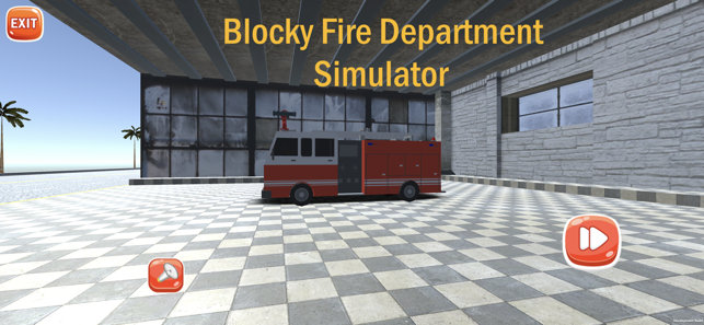 Blocky Fire Department, game for IOS