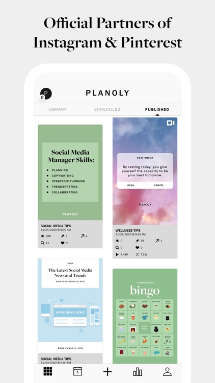 PLANOLY: Plan, Schedule, Post