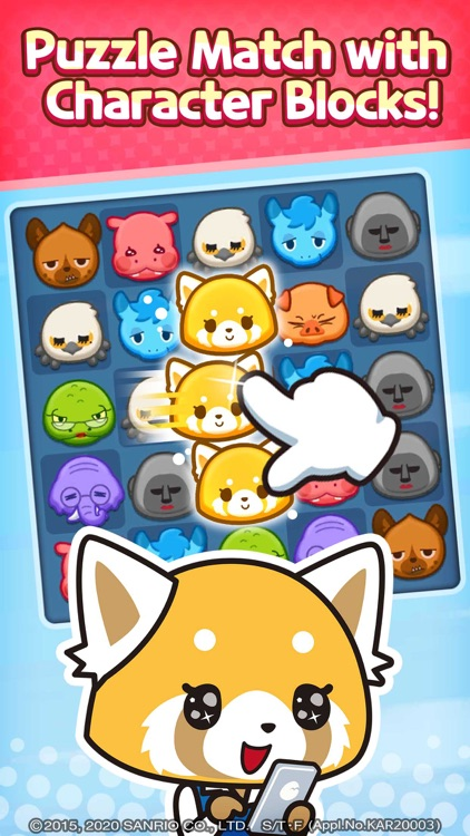 Aggretsuko :Sanrio Puzzle Game screenshot-0