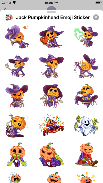 Jack Pumpkinhead Emoji Sticker screenshot 2