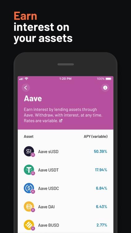Argent – DeFi in a tap screenshot-3