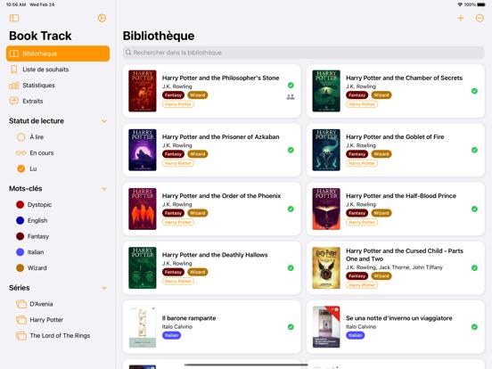 Book Track - Catalogue livres