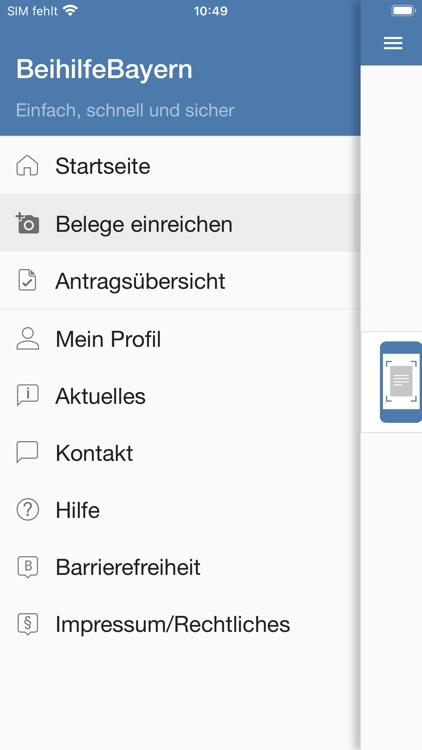 Beihilfe Freistaat Bayern screenshot-3