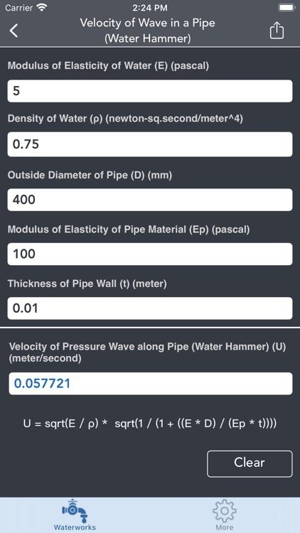 Waterworks Calculations screenshot-8