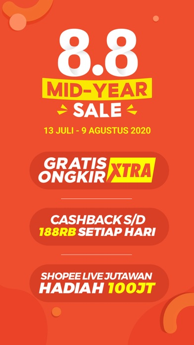 Unduh Shopee 8.8 Mid Year Sale pada Pc