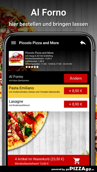 Piccolo Pizza Gräfelfing screenshot 6
