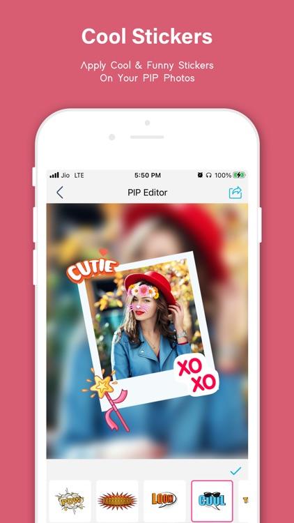 Pip Photo Editor, Stickers screenshot-7
