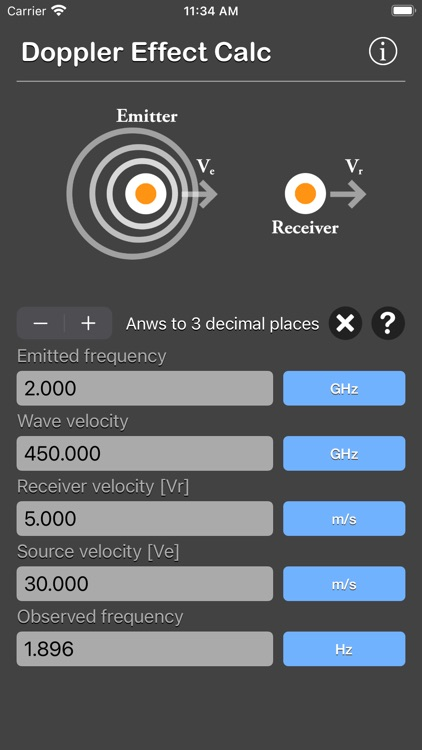 Doppler Effect Calculator screenshot-5