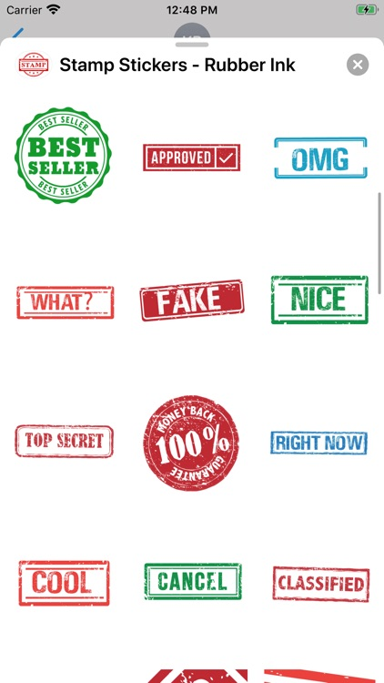 Stamp Stickers - Rubber Ink screenshot-4