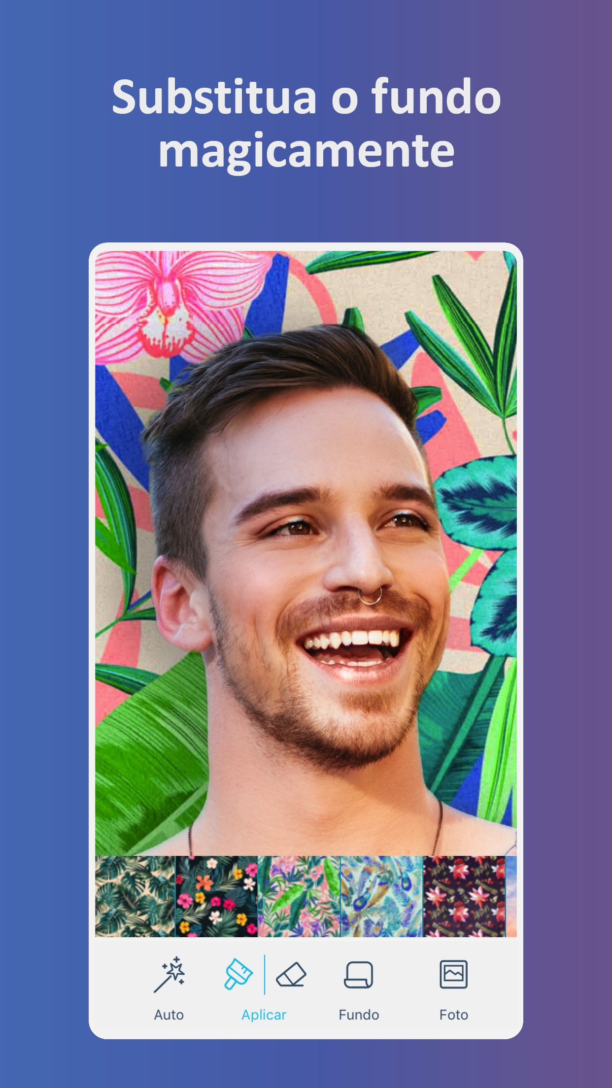 Screenshot do app Facetune2: Editor de Selfies