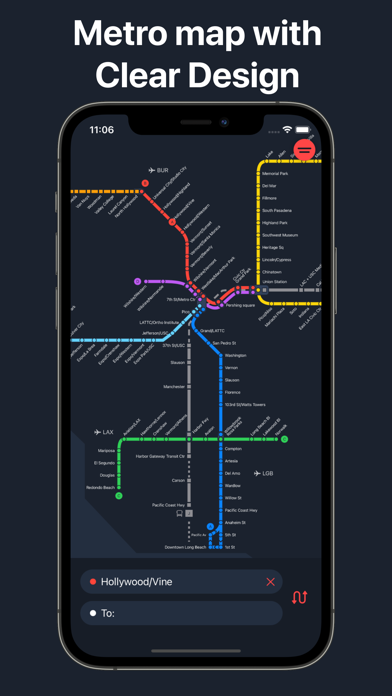 Metro LA - Los Angeles map screenshot 1