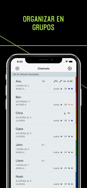 ShurePlus Channels Screenshot