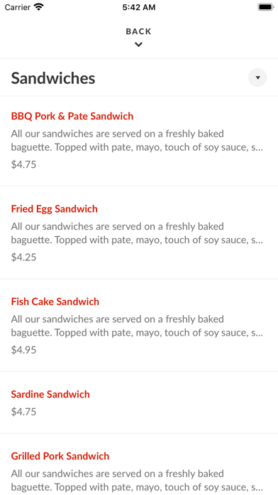Thh Sandwiches and CoffeeScreenshot of 3