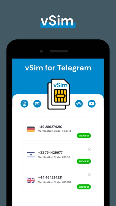 の仮想電話番号 Telegram紹介画像5