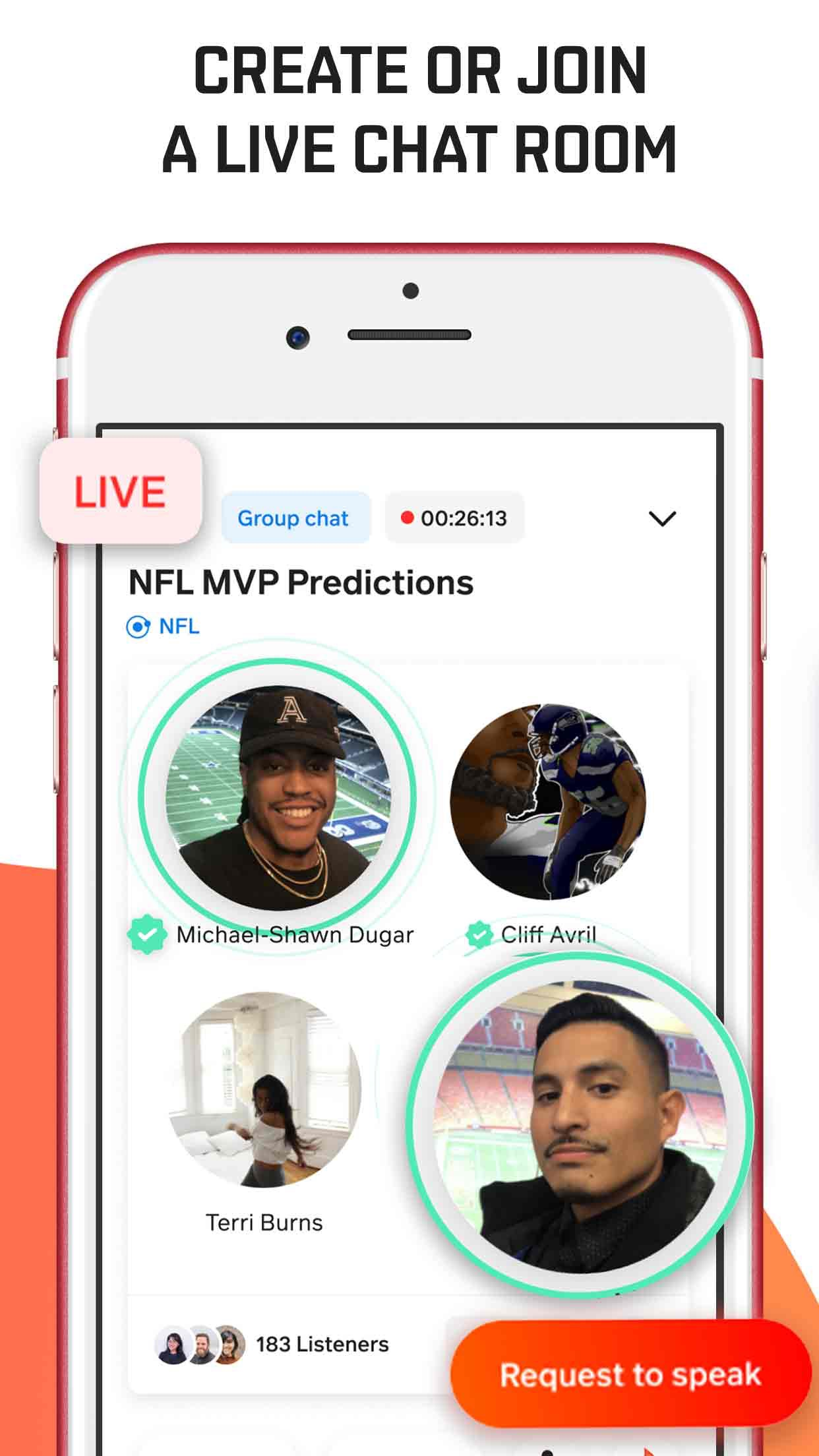 Screenshot do app Locker Room: Live Sports Talk