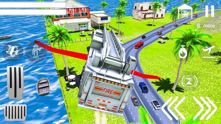 Real Flying Fire Truck Robot screenshot-6