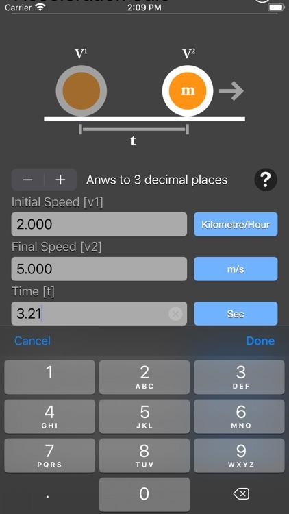 Acceleration Calculator Plus screenshot-5