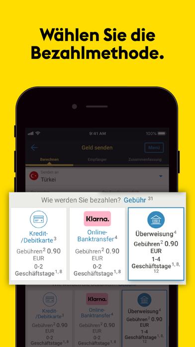 Western Union® GeldtransferScreenshot von 2