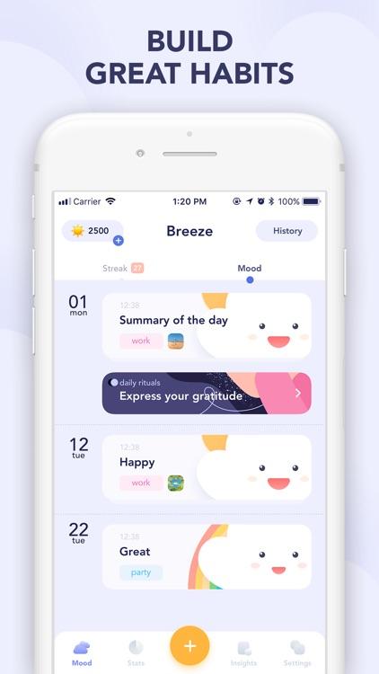 Breeze: mood tracker, diary screenshot-5
