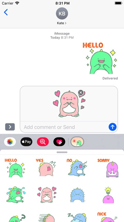 Little Dino Stickers pack