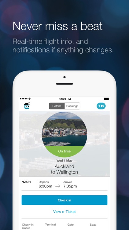 Air NZ mobile app