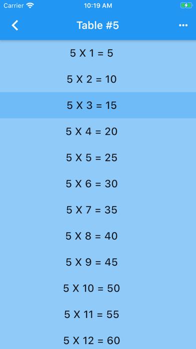 Audible Math Tables Pro screenshot 3