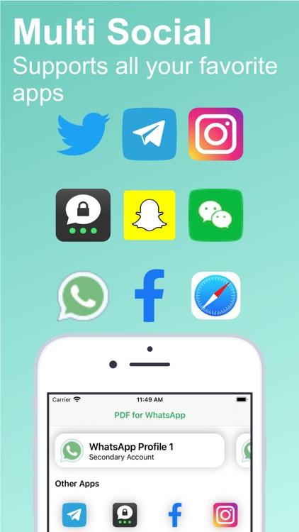 PDF for WhatsApp: Multi Login screenshot-0