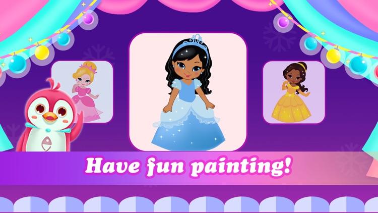 Princess color book for Kids screenshot-3