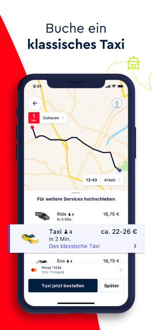 ‎FREE NOW (mytaxi) Screenshot