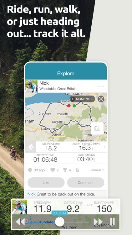 Map My Tracks: ride hike pro