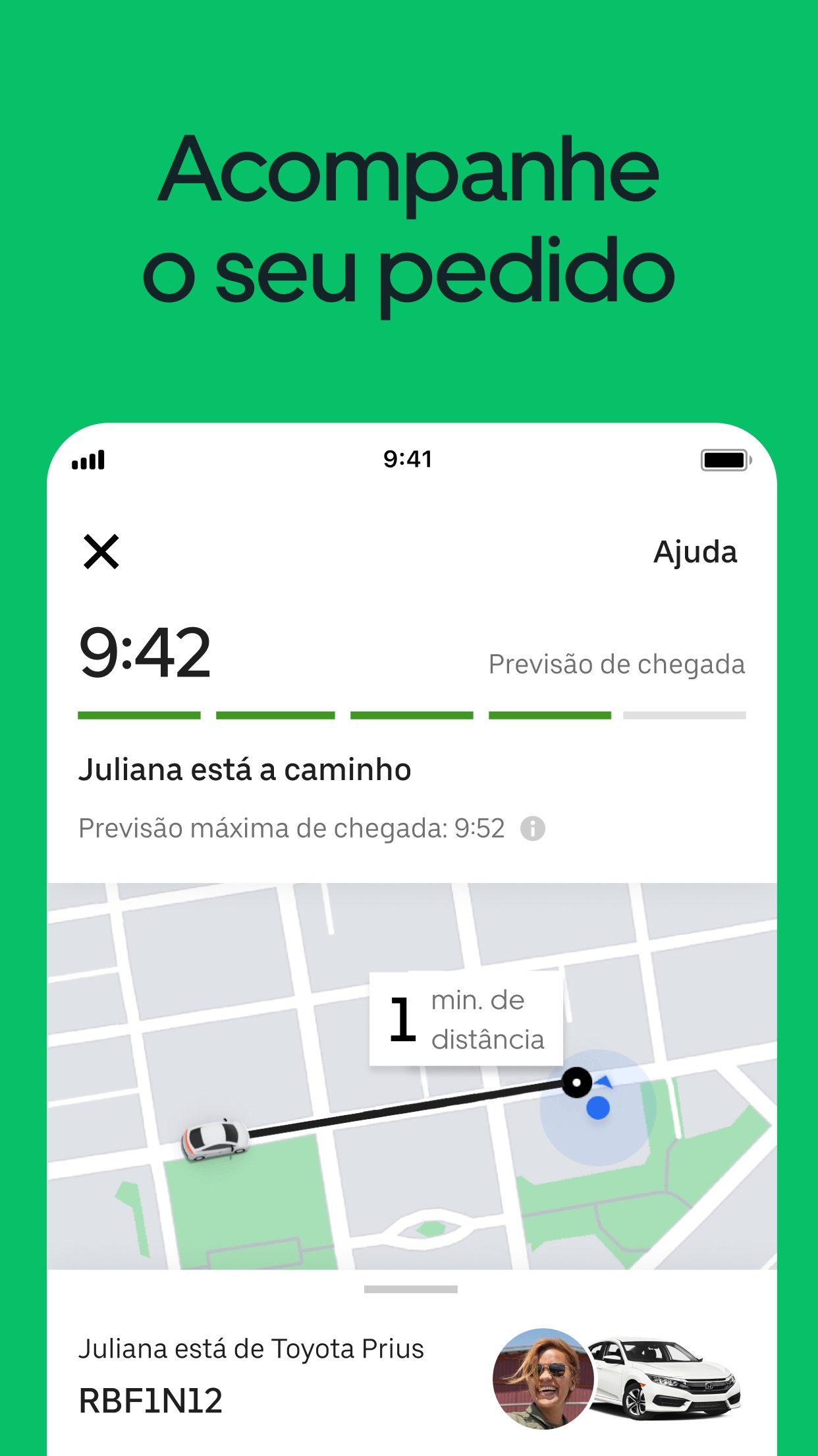Screenshot do app Uber Eats: Delivery de comida