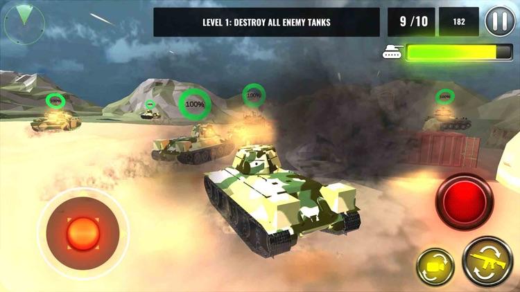 3D Tank Battle War screenshot-3