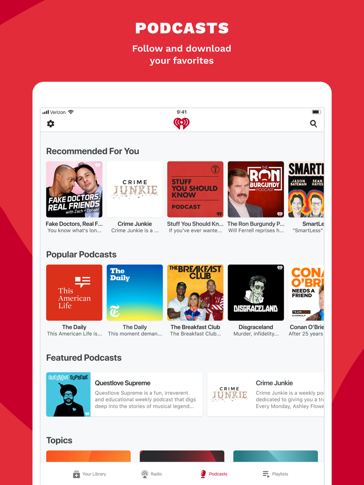 iHeart: Radio, Music, Podcasts App for iPhone - Free