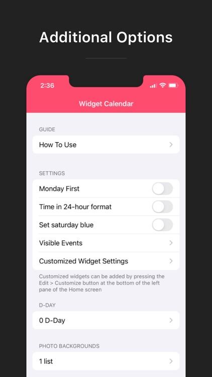 Widget Calendar screenshot-6
