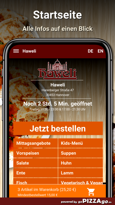 Haweli Hannover screenshot 2