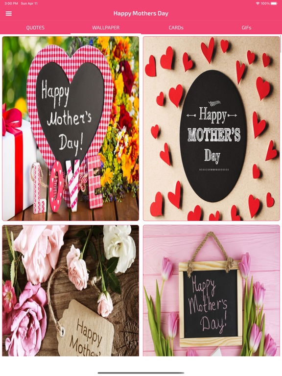 Screenshot #4 pour Mothers Day Cards & Wallpapers