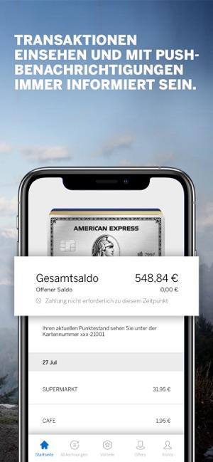Amex Deutschland im App Store