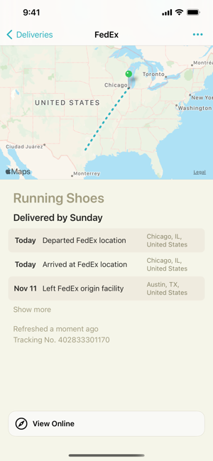 ‎Deliveries: a package tracker Screenshot