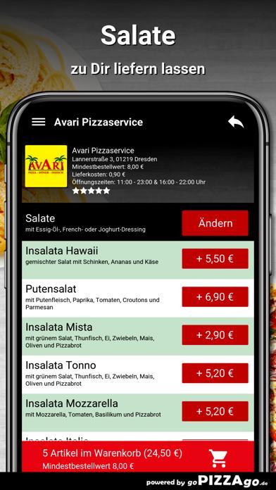 Avari Pizzaservice Dresden screenshot 5