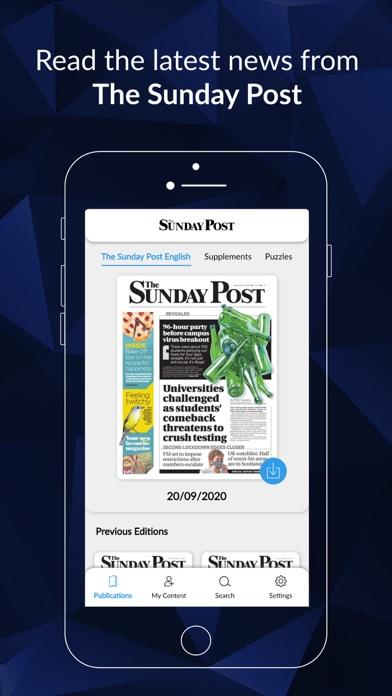 The Sunday Post ePaperScreenshot of 1